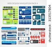 mega web design navigation pack ...   Shutterstock .eps vector #313517804