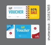 vector gift voucher coupon... | Shutterstock .eps vector #313517855