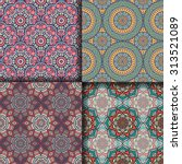 seamless patterns. vintage... | Shutterstock .eps vector #313521089