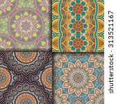 seamless patterns. vintage... | Shutterstock .eps vector #313521167