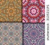 seamless patterns. vintage... | Shutterstock .eps vector #313521191
