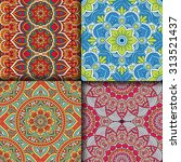 seamless patterns. vintage... | Shutterstock .eps vector #313521437