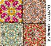 seamless patterns. vintage... | Shutterstock .eps vector #313521455