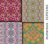seamless patterns. vintage... | Shutterstock .eps vector #313521461