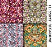seamless patterns. vintage... | Shutterstock .eps vector #313521461