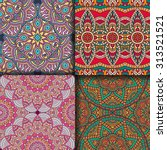 seamless patterns. vintage... | Shutterstock .eps vector #313521521