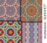 seamless patterns. vintage... | Shutterstock .eps vector #313521977