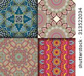 seamless patterns. vintage... | Shutterstock .eps vector #313522034