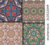 seamless patterns. vintage... | Shutterstock .eps vector #313522049