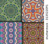seamless patterns. vintage... | Shutterstock .eps vector #313522091
