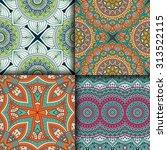 seamless patterns. vintage...   Shutterstock .eps vector #313522115