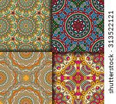 seamless patterns. vintage... | Shutterstock .eps vector #313522121