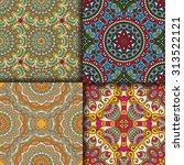 seamless patterns. vintage...   Shutterstock .eps vector #313522121