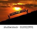 silhouette of businessmen... | Shutterstock . vector #313522991