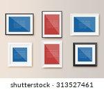 photo frames on wall. vector... | Shutterstock .eps vector #313527461
