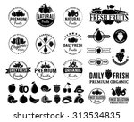set of fruit logo templates.... | Shutterstock .eps vector #313534835