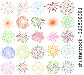 fireworks display for new year... | Shutterstock .eps vector #313538381