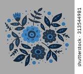 floral background vector design   Shutterstock .eps vector #313544981