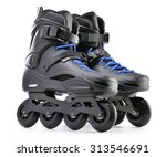 pair of inline skates isolated... | Shutterstock . vector #313546691