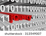 jquery is presented in the form ... | Shutterstock . vector #313549007
