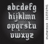 modern gothic style font with... | Shutterstock .eps vector #313551941