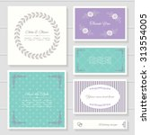 invitation cards and templates... | Shutterstock .eps vector #313554005