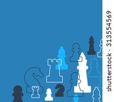 template with chess pieces.... | Shutterstock .eps vector #313554569