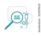 recruitment. concept search ... | Shutterstock .eps vector #313559615