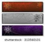 vector set of three halloween... | Shutterstock .eps vector #313560131