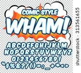 Comic Alphabet Set. Blue And...