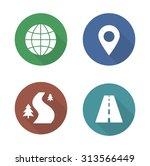 map navigation flat design...