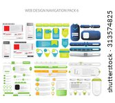 mega web design navigation pack ... | Shutterstock .eps vector #313574825