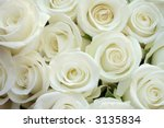 Stock photo beautiful white roses for wedding texture 3135834