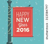 happy new year 2016 card ... | Shutterstock .eps vector #313584797
