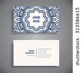 business card. vintage... | Shutterstock .eps vector #313586615