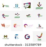set of new universal company... | Shutterstock .eps vector #313589789