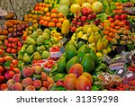 la boqueria  fruits. world...   Shutterstock . vector #31359298