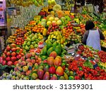 la boqueria market in the... | Shutterstock . vector #31359301