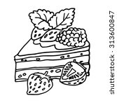 coloring book  pie . hand drawn ... | Shutterstock .eps vector #313600847