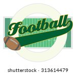 football with tail banner is an ... | Shutterstock .eps vector #313614479