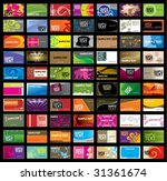 various business card | Shutterstock .eps vector #31361674