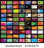 various business card | Shutterstock .eps vector #31361674