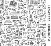 travel seamless background | Shutterstock .eps vector #313634357
