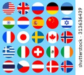 circle flags icons in flat... | Shutterstock . vector #313636439