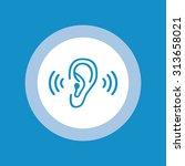 ear icon . vector illustration | Shutterstock .eps vector #313658021