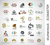 unusual icons set   isolated on ... | Shutterstock .eps vector #313660709