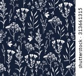 seamless pattern with herbs and ... | Shutterstock . vector #313661315