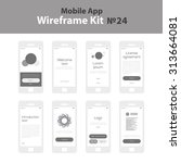 mobile wireframe app ui kit 24. ...