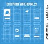mobile wireframe app ui kit 24. ...