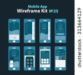 mobile wireframe app ui kit 25. ...